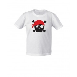 Mini - Pirate Skull Red