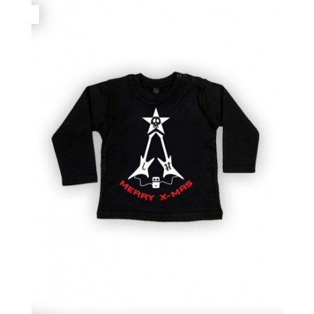Long Sleeve Bebé - X-mas Guitars