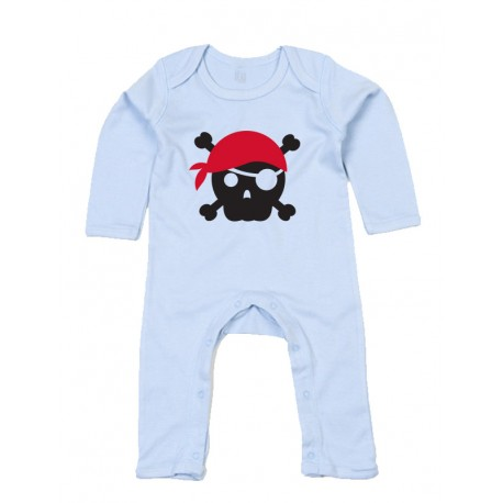 Rompasuit - Pirate Skull Red