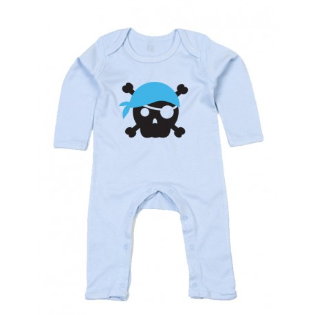 Rompasuit - Pirate Skull Blue