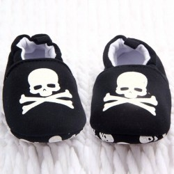 Baby Slippers - Pirate Skull