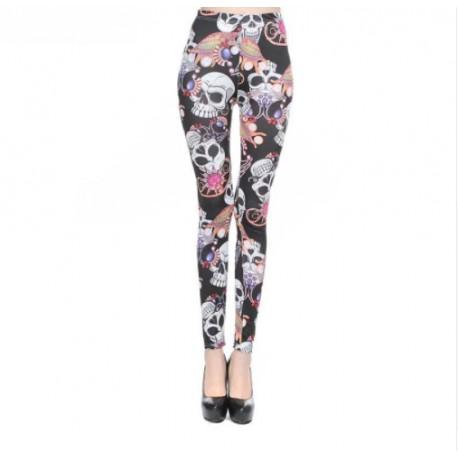 Leggings Colorful Skulls