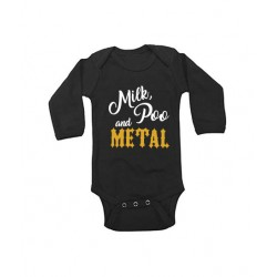 Long Sleeve Bodysuit - Milk, Poo and Metal